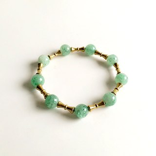 [Gem series] hand made of natural ore Dongling stone brass small bracelet