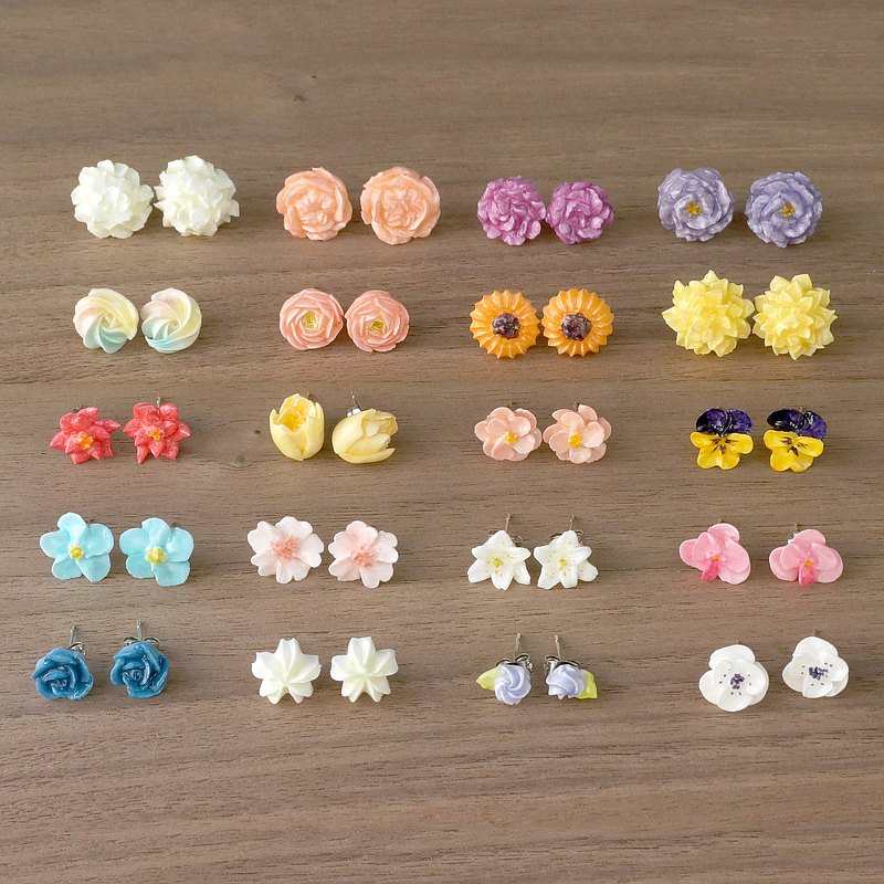 =Flower Piping= Customize Floral Earrings