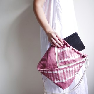 Tie dye/handmade/Kimono bag/hand bag/shoulder bag :Red Wine: