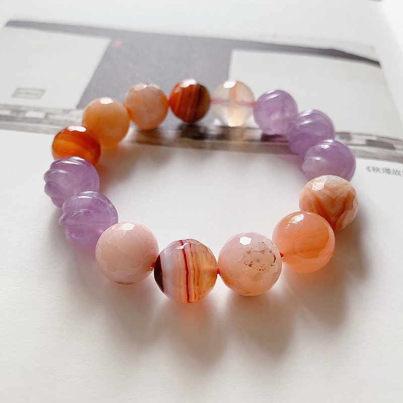 The orphan is small and perfect. Natural Agate+Purple Jade Bracelet Girls Good Luck, Lucky Gifts, Gifts to Help Careers