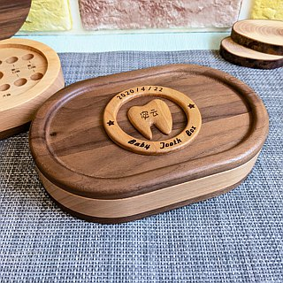 [baby gift] baby deciduous wooden box newborn gift baby gift blessing gift