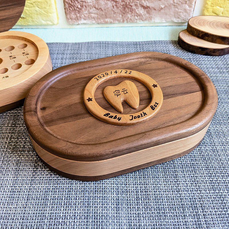 【Baby Gifts】Baby Deciduous Teeth Wooden Box Newborn Gift/Little Baby Blessing Gift