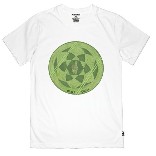 British Fashion Brand [Baker Street] Crop Circles Printed T-shirt