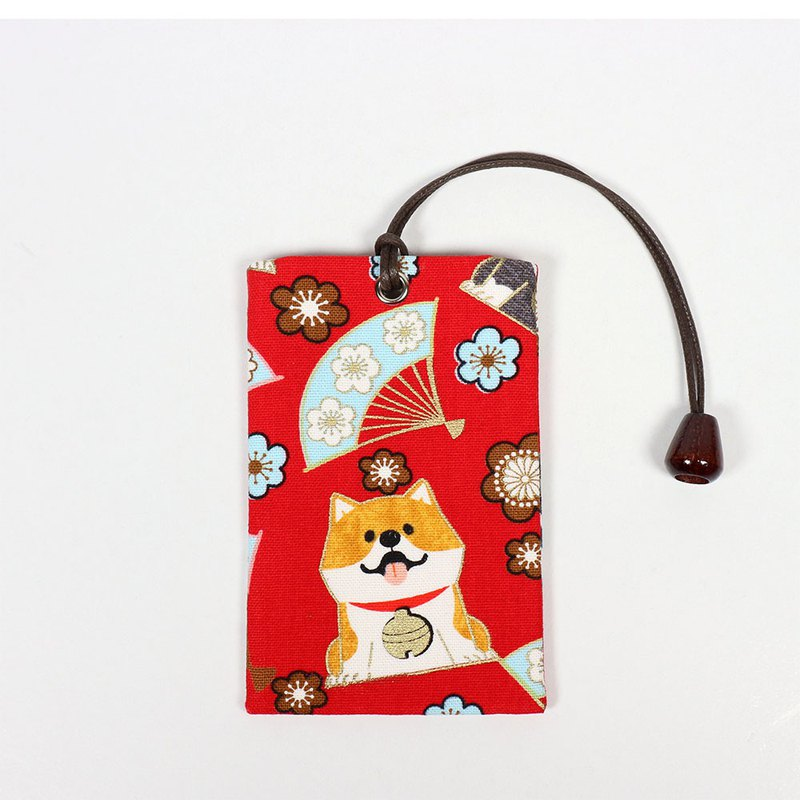 Youyou Card ID Card Set Card Holder - Japanese and Match Dog (Red)