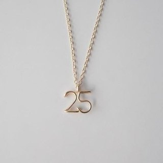 Number (number) 2 digits necklace