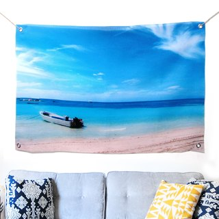 Wall decoration cloth gradation sea