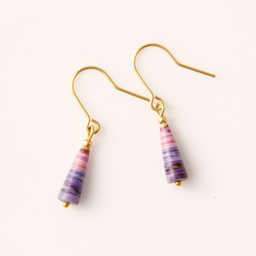 MUSEV Purple Powder Gradient Mini Awl Earrings