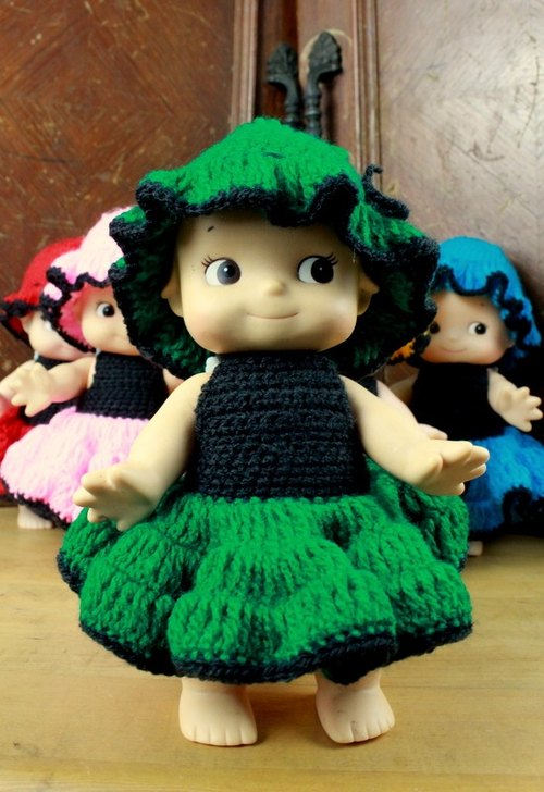Small turtle Ge Ge - cute weave dress small Q than - green