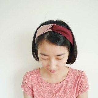 [Wine red pink hit hair band]