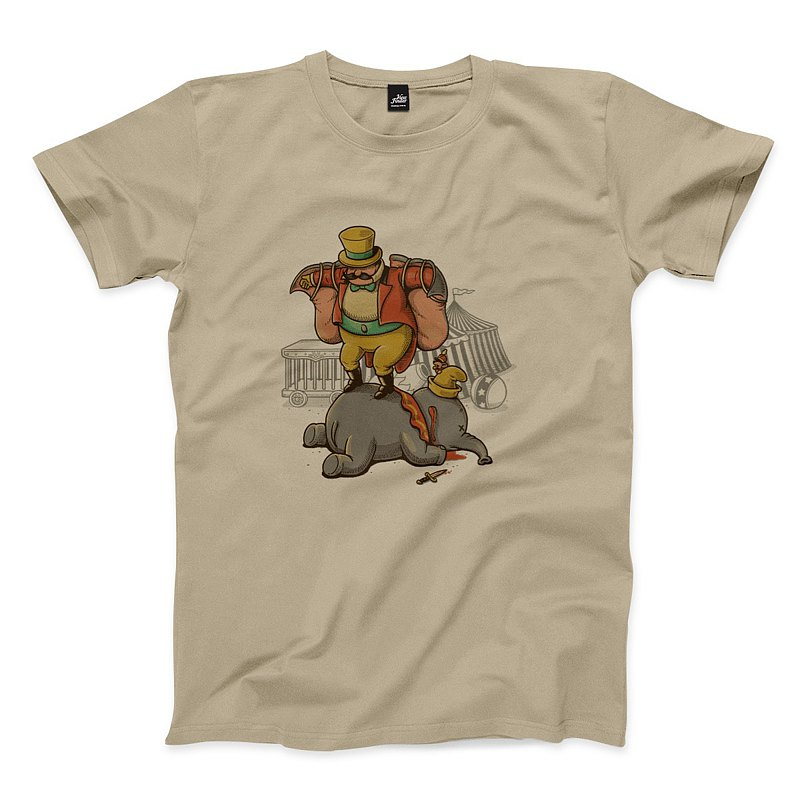 Male cutting off their ears - khaki - Unisex T-Shirt