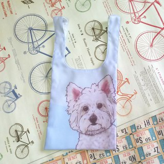 West Highland White Terrier Vest Bag - Dog Sketch Series ~ Beverage Tote
