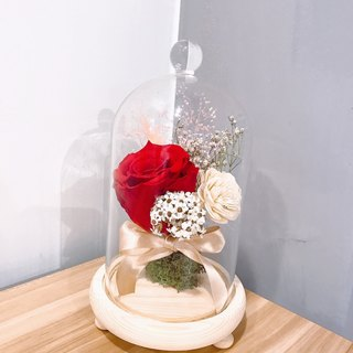 {BUSYBEE} eternal life glass flower decoration night light birthday gift