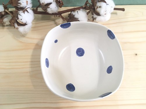 Bowl bowl-square bowl (blue dot)