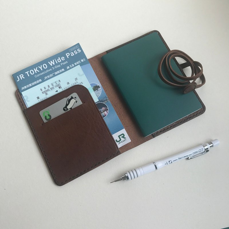 Florence leather  Passport Case  autumn chestnut