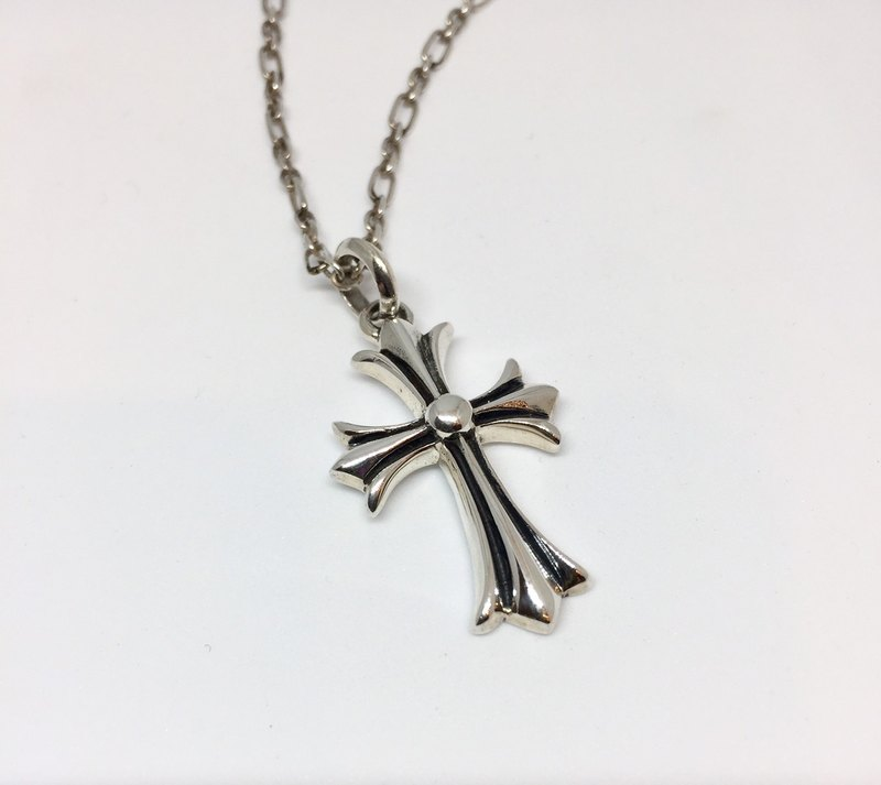 925 sterling silver cross necklace Iris / neutral section