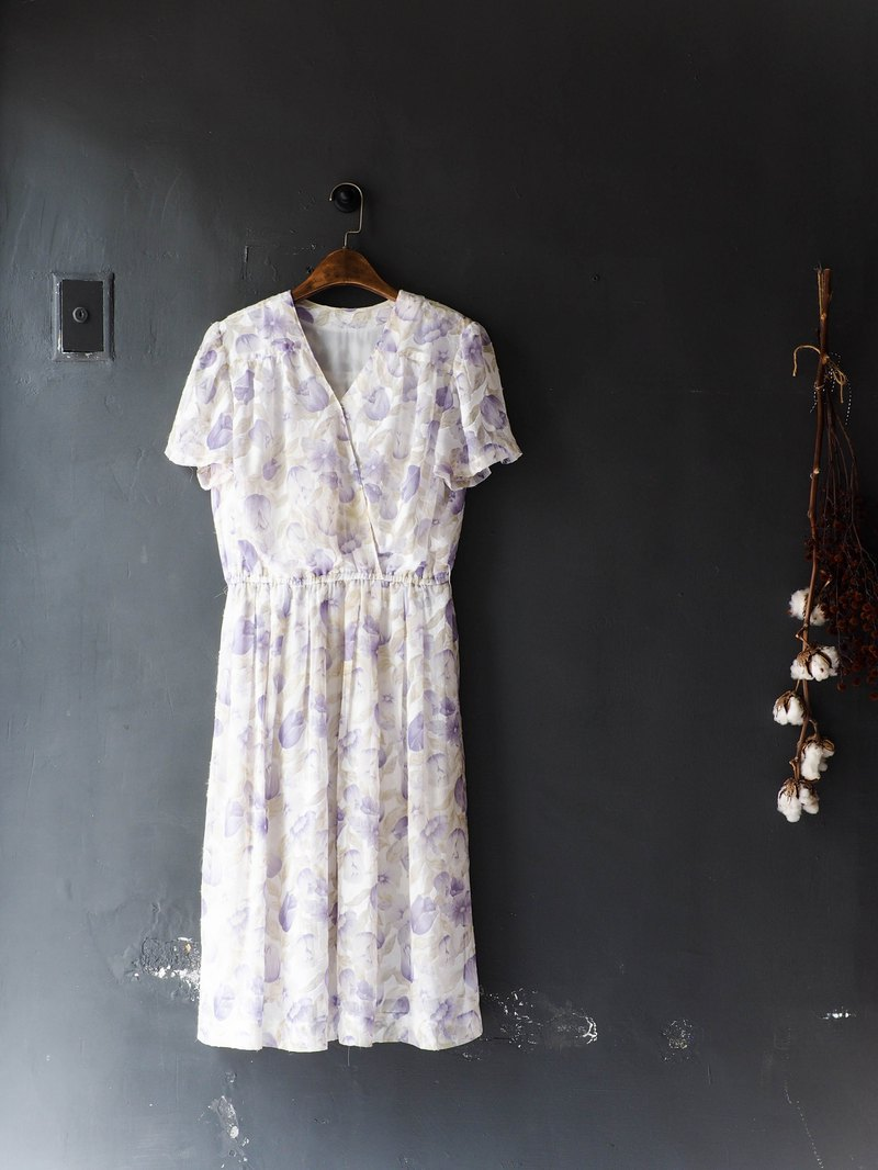 River Water Mountain - Fushan Light Purple Spring Flower Festival Antiques Rompered Yarn Dress