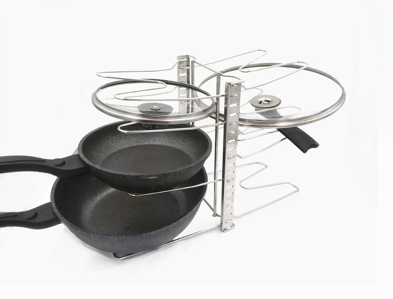 Stainless steel double-sided pan rack spacing can be adjusted freely pan rack lid rack kitchen storage rack rack