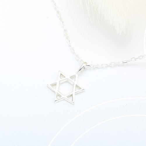 Hexagram s925 sterling silver necklace Valentine's Day gift