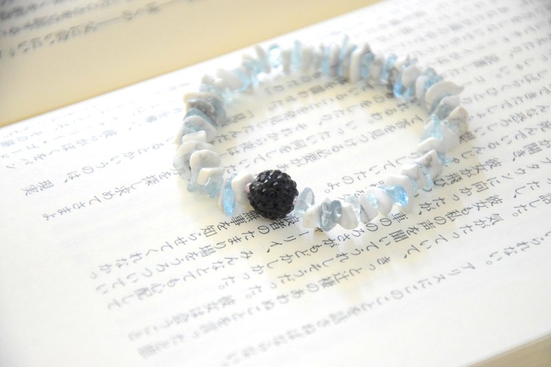 Blue Shimmer Light Handmade Bracelet