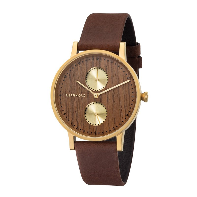 KERBHOLZ - Wood Watch - CLARA - Walnut (38mm)