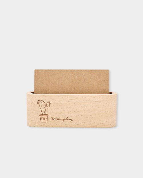 [small box] wooden groove card holder S_ pattern version / beech / gift / corporate gifts / graduation gift