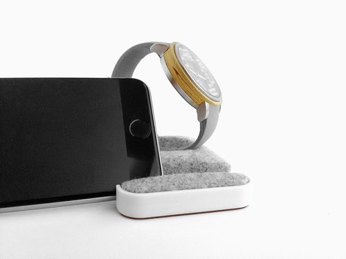 Unique multifunctional tray, Watch stand, Smartphone stand, Smart phone stand, Home sweet home Tray, Smartwatch, apple, iphone,  dock【ホワイト】