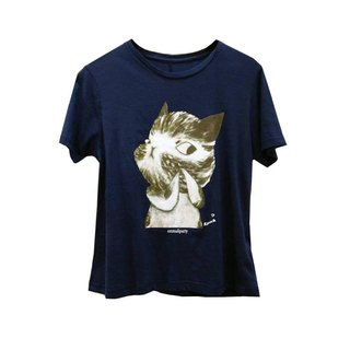 emmaAparty illustrator T: Fold finger cat (short version limited edition)