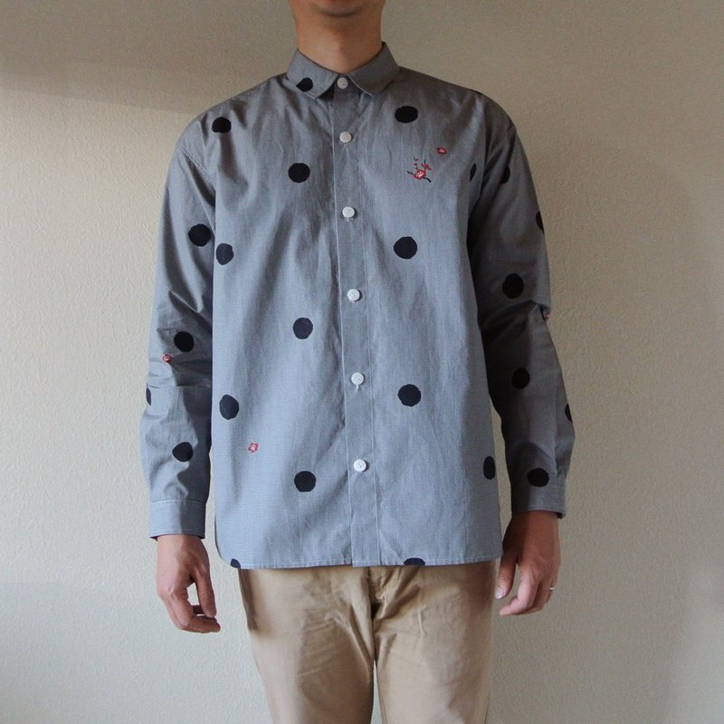 Mens · Gingham Check Shirt Dots and plums
