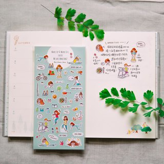 Weight Loss Diary │ Transparent Sticker
