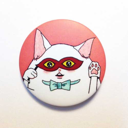 Cat camouflage / pin back buttons
