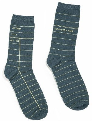 """Library card"" socks. gray"