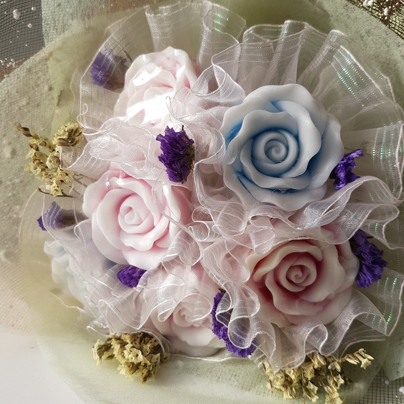 Rose fragrance soap bouquet rose handmade soap
