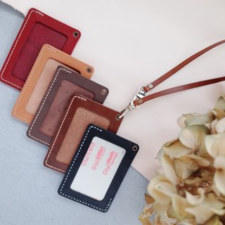 Shekinah Handmade Leather - 2 way Diagonal Double Headed ID Card Set (with double-ended hand strap)