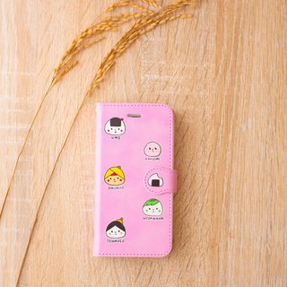 【New】 Pocketbook type smartphone case rice balls