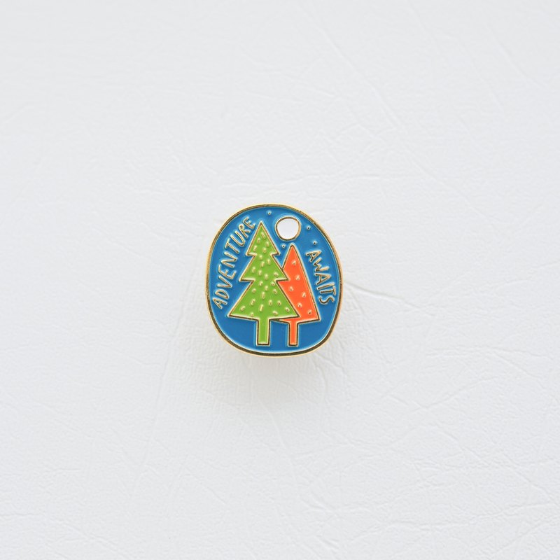 """ADVENTURE AWAITS"" ENAMEL PIN"