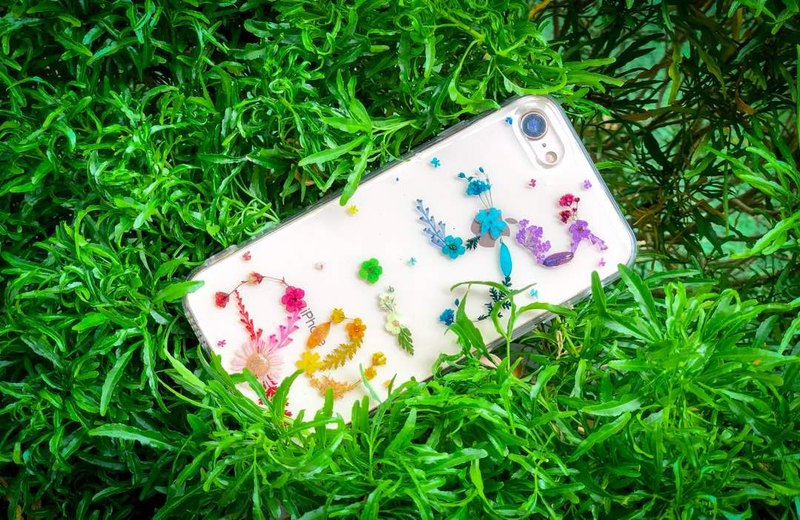 壓花 名字 手機殼  Pressed Flower Phone Cases