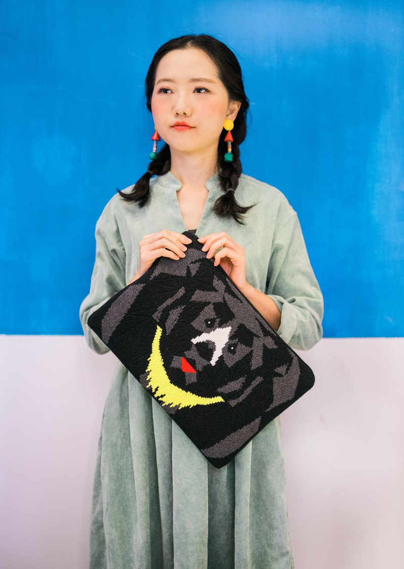 "Moon Bear 13"" Mac Protecter/ Clutch Bag"