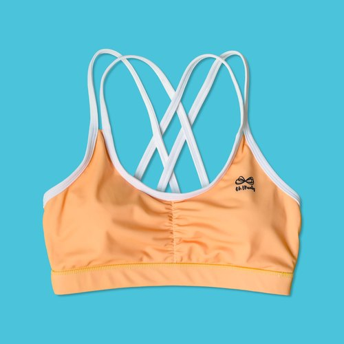 Orange strappy bras