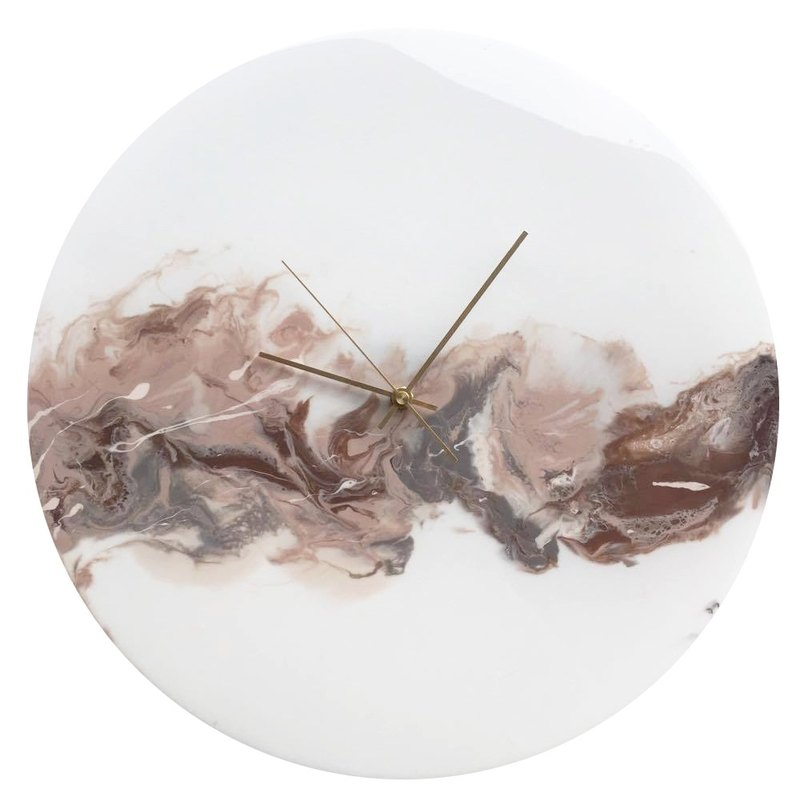 [Cloud ash flow, lunar body, handmade wall clock] 40cm
