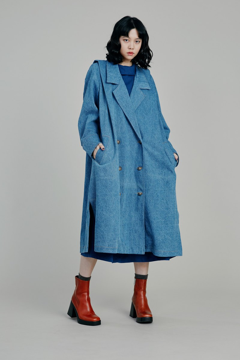 Shan Yong Heavy Twill Denim Coat