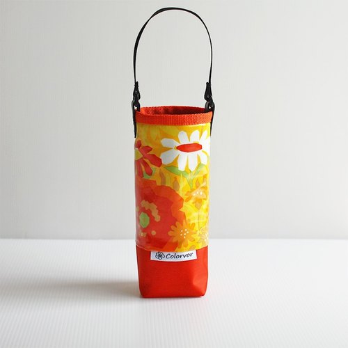 Orange Garden Water Bottle Bag