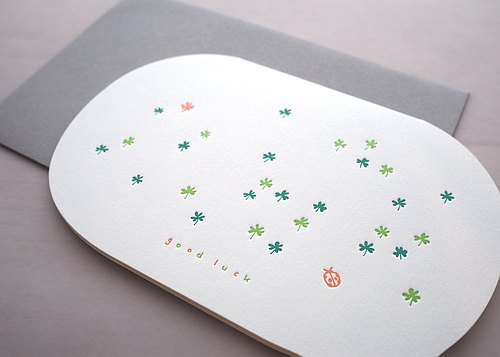 Lucky - typography card