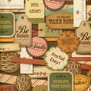 Moof Vintage Label Wrapping Paper
