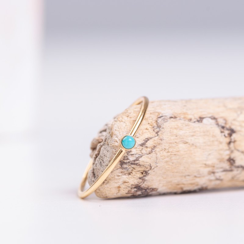 TURKEY dainty ring in 14k gold filled and natural Turquoise gemstone