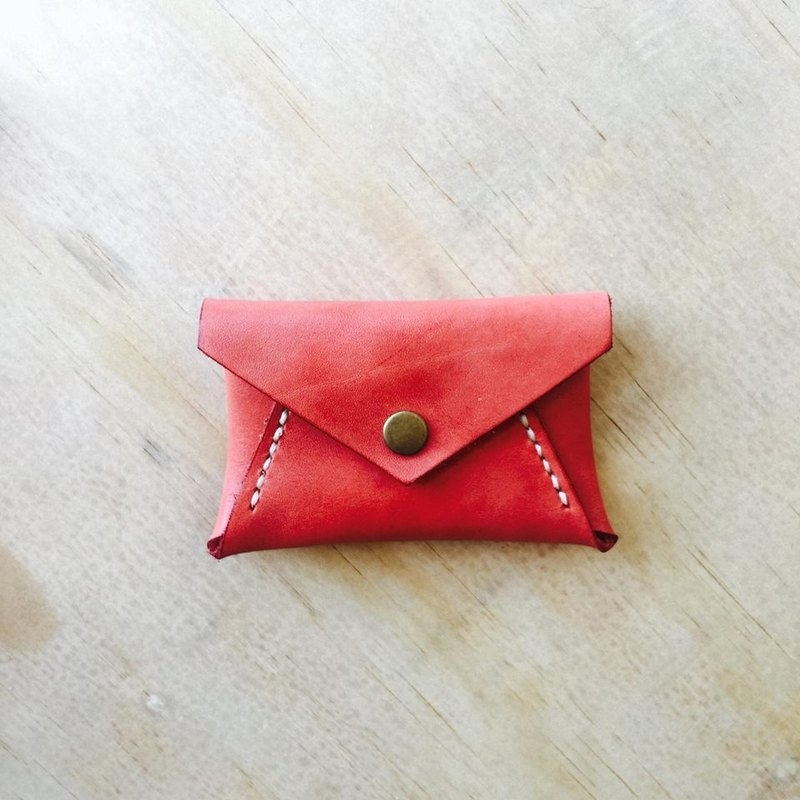 Red envelope type coin purse exchange gift flash drive storage customized handmade leather sniffing leather hand made