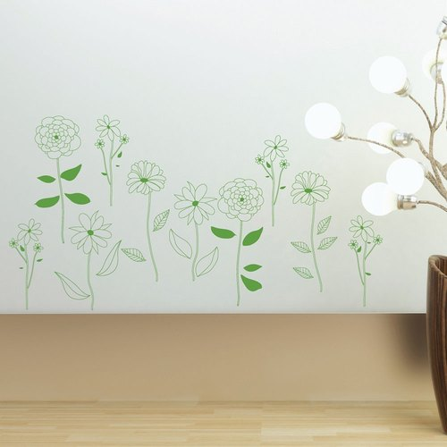 Smart Design Creative Wall Sticker - Flower 8 Colors on the Roadside