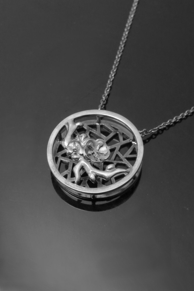 ReShi / Window & Flower Series-Mei / Sterling Silver / Designer Limited Edition / Gift of Elder