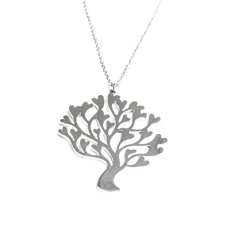 Abstract cute heart tree pendant