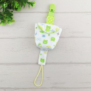 Smile frog - 2 colors are optional. Japanese double yarn pacifier bag + pacifier chain (can increase the price of 40 embroidery name)