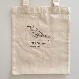 Pure hand-painted bird cotton shopping bag ‧ Swallows